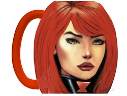 Black Widow Molded Coffee Mug
