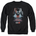 Bloodshot adult crewneck sweatshirt Blood Lines black