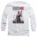 Bloodshot adult long-sleeved shirt Death By Tech white