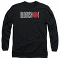 Bloodshot adult long-sleeved shirt Logo black