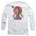 Bloodshot adult long-sleeved shirt Reborn white