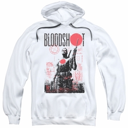 Bloodshot pull-over hoodie Death By Tech adult white