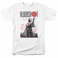 Bloodshot t-shirt Death By Tech mens white