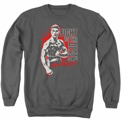Bloodsport adult crewneck sweatshirt To The Death Charcoal
