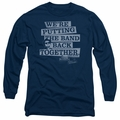 Blues Brothers adult long-sleeved shirt Band Back navy