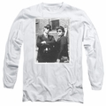 Blues Brothers adult long-sleeved shirt Brick Wall white