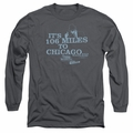 Blues Brothers adult long-sleeved shirt Chicago charcoal