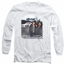 Blues Brothers adult long-sleeved shirt Distressed Poster white