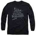 Blues Brothers adult long-sleeved shirt Its Dark black