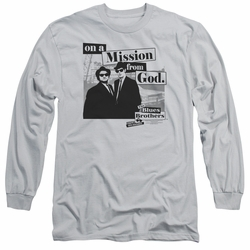 Blues Brothers adult long-sleeved shirt Mission silver