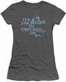 Blues Brothers juniors t-shirt Chicago charcoal