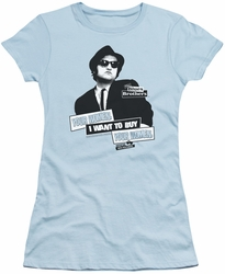 Blues Brothers juniors t-shirt Women light blue