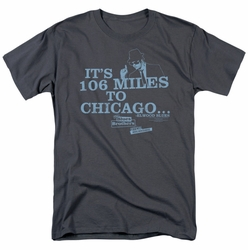 Blues Brothers t-shirt Chicago mens charcoal