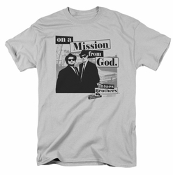 Blues Brothers t-shirt Mission mens silver