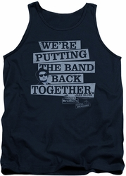 Blues Brothers tank top Band Back mens navy