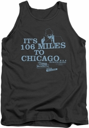 Blues Brothers tank top Chicago mens charcoal