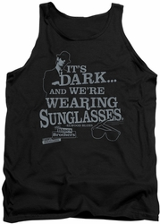 Blues Brothers tank top Its Dark mens black