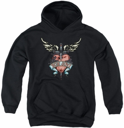 Bon Jovi youth teen hoodie Daggered black