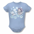Betty Boop snapsuit Baby Bubbles light blue