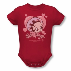 Betty Boop snapsuit Baby Heart red
