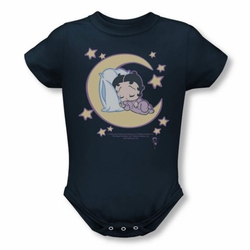 Betty Boop snapsuit Sleepy Time navy