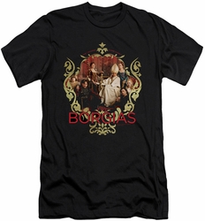 Borgias slim-fit t-shirt Family Portrait mens black