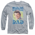 Brady Bunch adult long-sleeved shirt Worlds Grooviest athletic heather