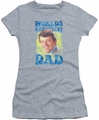 Brady Bunch juniors t-shirt Worlds Grooviest athletic heather