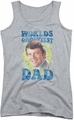 Brady Bunch juniors tank top Worlds Grooviest athletic heather