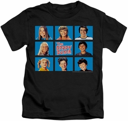 Brady Bunch kids t-shirt Framed black
