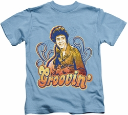 Brady Bunch kids t-shirt Groovin carolina blue