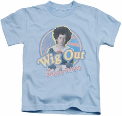 Brady Bunch kids t-shirt Wig Out light blue