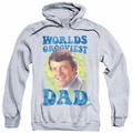 Brady Bunch pull-over hoodie Worlds Grooviest adult athletic heather