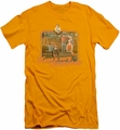 Brady Bunch slim-fit t-shirt Have A Very Brady Day mens gold