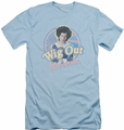 Brady Bunch slim-fit t-shirt Wig Out mens light blue