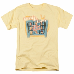 Brady Bunch t-shirt Here'S The Story mens banana
