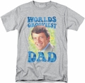 Brady Bunch t-shirt Worlds Grooviest mens athletic heather