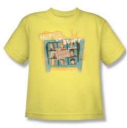 Brady Bunch youth teen t-shirt Here's The Story banana
