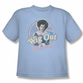Brady Bunch youth teen t-shirt Wig Out light blue