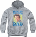 Brady Bunch youth teen hoodie Worlds Grooviest athletic heather
