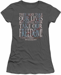 Braveheart juniors t-shirt Freedom charcoal