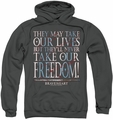 Braveheart pull-over hoodie Freedom adult charcoal