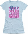 Breakfast Club juniors t-shirt Forever light blue