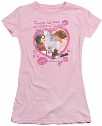Breakfast Club juniors t-shirt Lipstick pink
