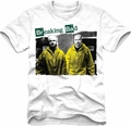 Breaking Bad sheer t-shirt Yellow Lab Suits mens white