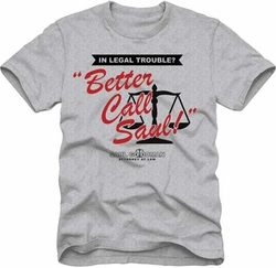 Breaking Bad t-shirt Better Call Saul mens heather