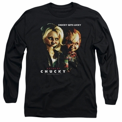 Bride Of Chucky adult long-sleeved shirt Chucky Gets Lucky black