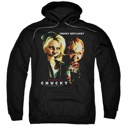 Bride of Chucky pull-over hoodie Chucky Gets Lucky adult black
