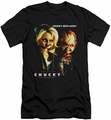 Bride Of Chucky slim-fit t-shirt Chucky Gets Lucky mens black
