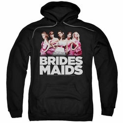 Bridesmaids pull-over hoodie Maids adult black
